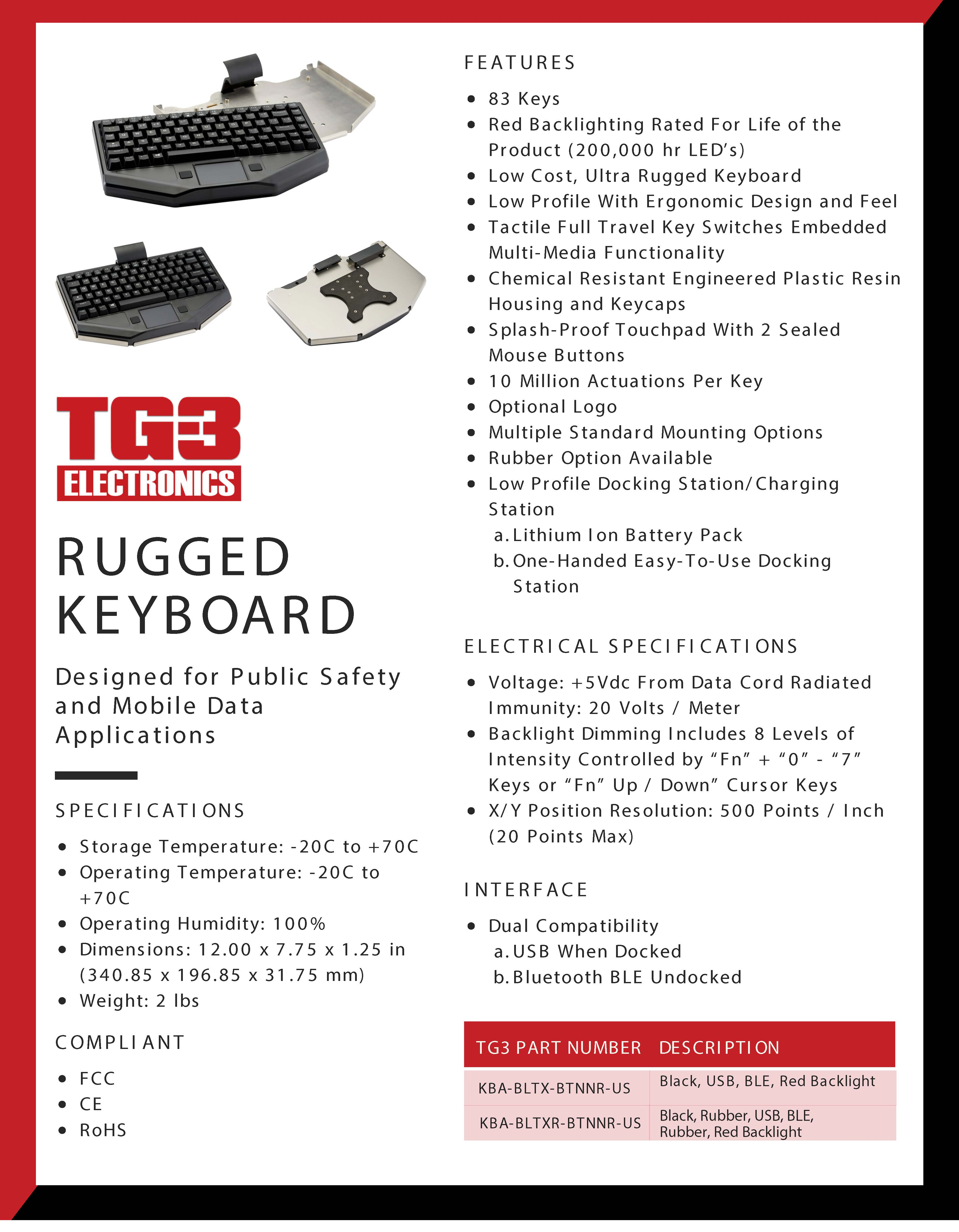 Rugged Wireless Keyboard for in-vehicle computer mounting solutions - Québec, Canada